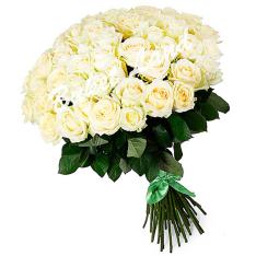51 белая роза Аваланч 60 см фото