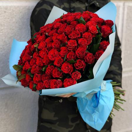 101 red rose 50 cm photo