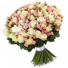 101 роза микс спрей-аваланч 60 см фото