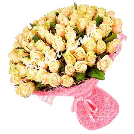 101 роза Талея 60 см фото
