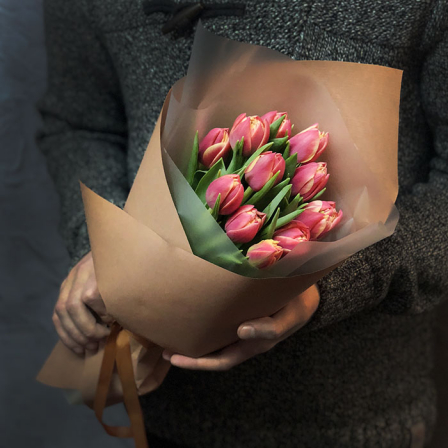 11 peony tulips in stock photo