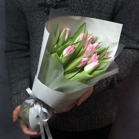 11 розовых тюльпанов фото
