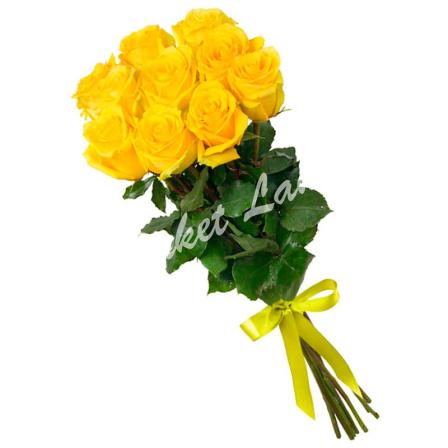 11 жёлтых роз Пенни Лейн 60 см