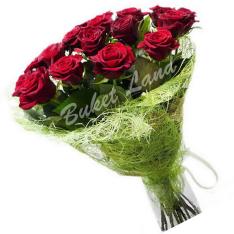 13 красных роз Гран При 60 см фото