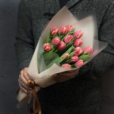 15 peony tulips in stock photo