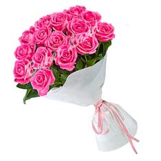15 розовых роз Аква 60 см фото