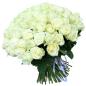 151 белая роза 60 см фото