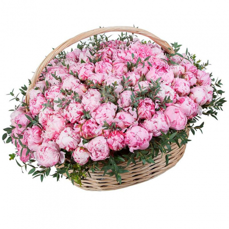 151 peony in a basket photo