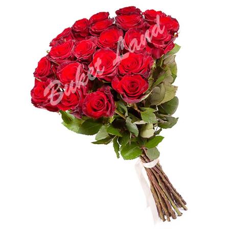 19 красных роз Гран При 60 см