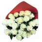 21 белая роза 50 см фото