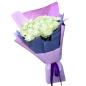 21 белая роза 60 см фото