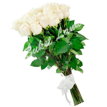 21 белая роза 80 см фото