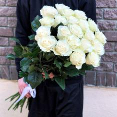 21 эквадорская роза Мондиаль 80-90 см фото