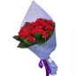 21 червона троянда 50 см фото