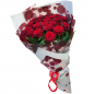 21 красная роза 60 см фото