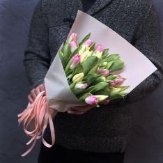 21 тюльпан микс (2 цвета) фото