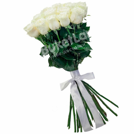 25 белых голландских роз Mondial/White Chocolate фото