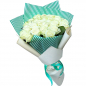 25 белых роз 60 см фото