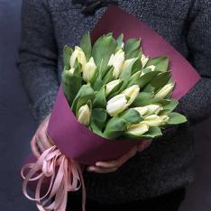 25 белых тюльпанов фото