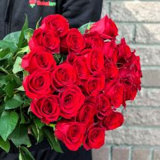 25 червоних голландських троянд Freedom фото
