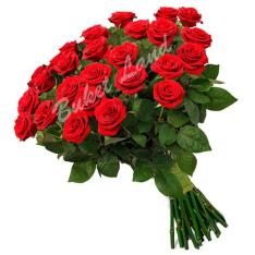 25 красных роз Гран При 60 см фото