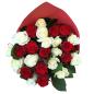 25 роз микс красно-белые 50 см фото