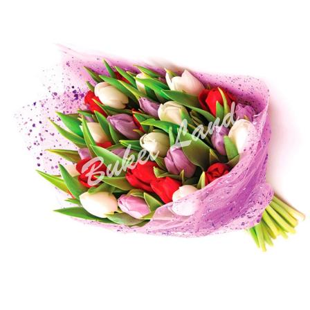29 тюльпанов микс в ассортименте