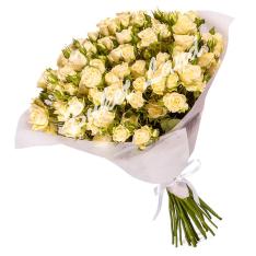 31 белая роза спрей 60 см фото