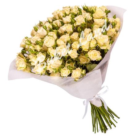 31 белая роза спрей 60 см