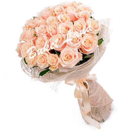 31 бежевая роза Талея 60 см
