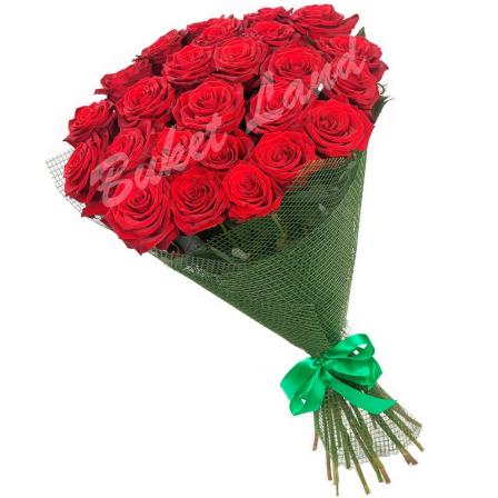 31 красная роза Гран При 60 см