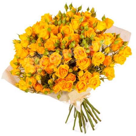 31 желтая роза спрей фото