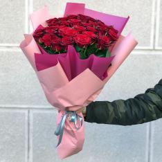 33 красных роз 60 см фото