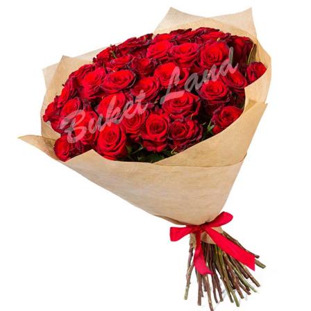 39 красных роз Гран При 60 см