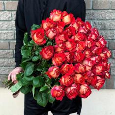 49 эквадорских роз Игуаза 80-90 см фото