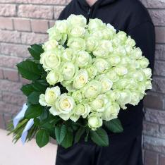 51 біла троянда 80 см фото