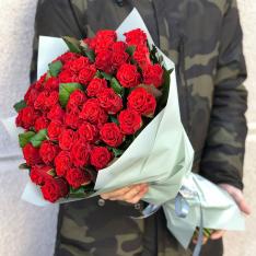 51 красная роза 50 см фото