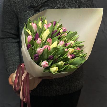 51 тюльпан микс (3 цвета) фото