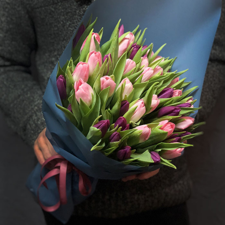 51 тюльпан микс (2 цвета) фото