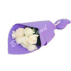 9 белых роз Аваланч 60 см фото