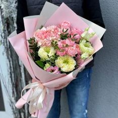 Букет цветов «Кремовый мусс» фото