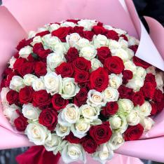 151 троянда мікс 50 см фото