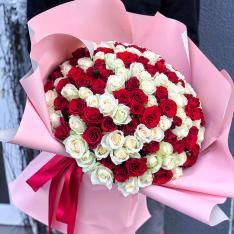 151 роза микс 50 см фото