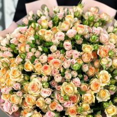 51 кущова троянда мікс 60 см фото