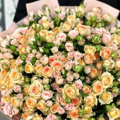 51 кустовая роза микс 60 см фото