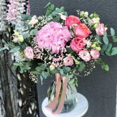 Букет цветов «Прима-Балерина» + ВАЗА В ПОДАРОК фото
