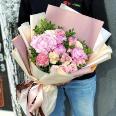 Букет цветов  «Рассветные Облака» фото