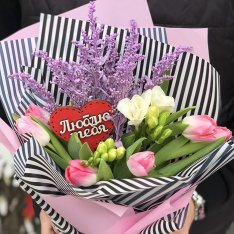 Designer bouquet for your beloved | size S photo