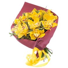 Букет из 15 орхидей  фото