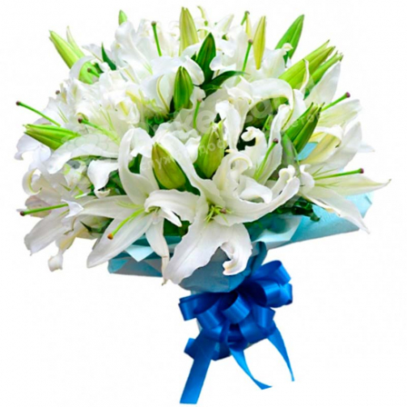Bouquet of 25 lilies photo